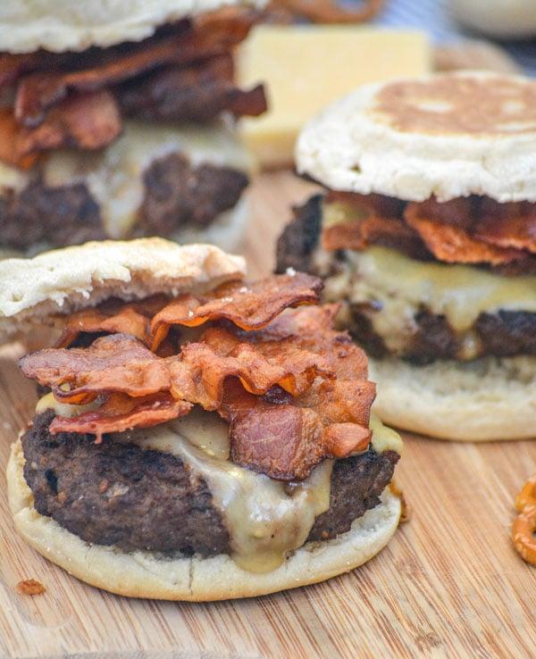 Guinness Bacon Irish Cheddar Cheeseburgers