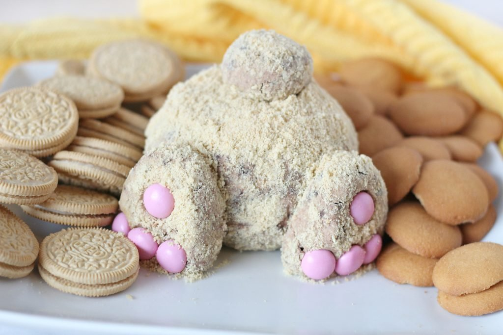 Easter Bunny Butt Chocolate Cheesecake Cheese Ball