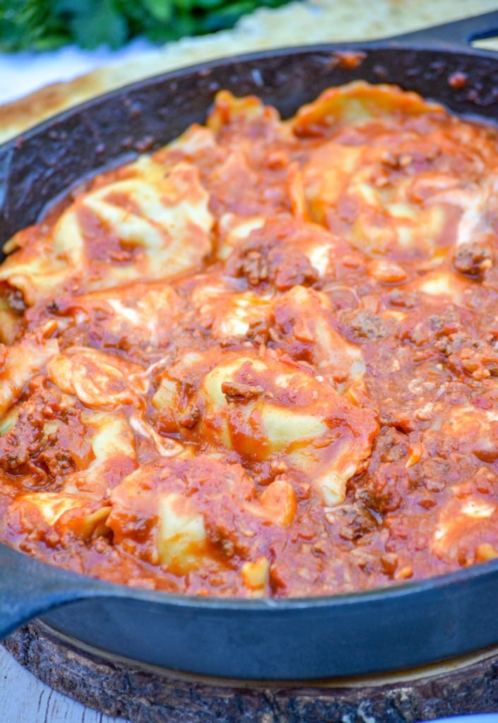 Cast Iron Skillet Ravioli Lasagna