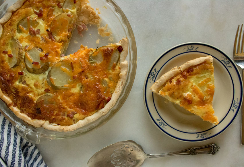 Ham & Potato Quiche