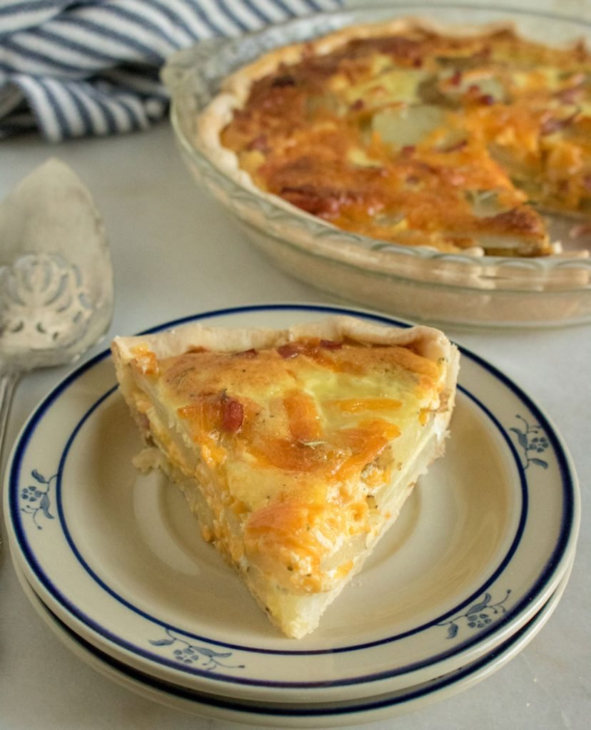 Cheesy Ham & Potato Quiche