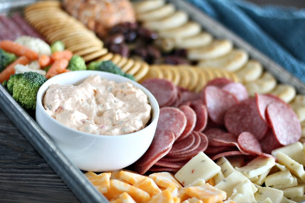 Sheet Pan Charcuterie Meat & Cheese Snack Tray