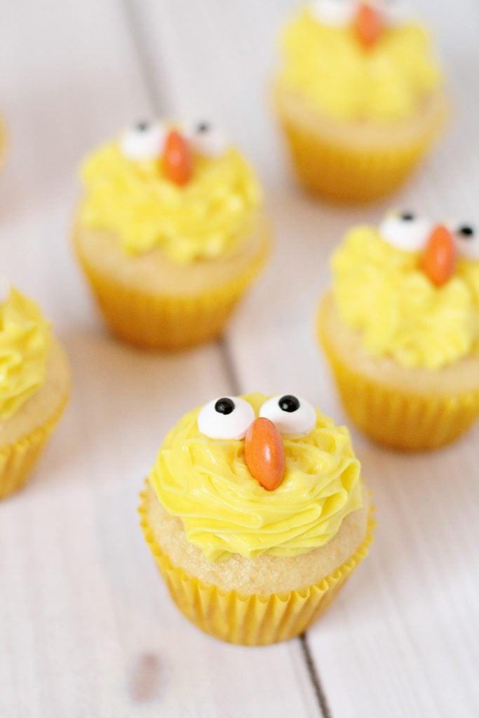 Mini Spring Chick Cupcakes