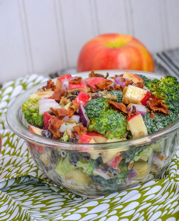 sweet apple broccoli & bacon salad