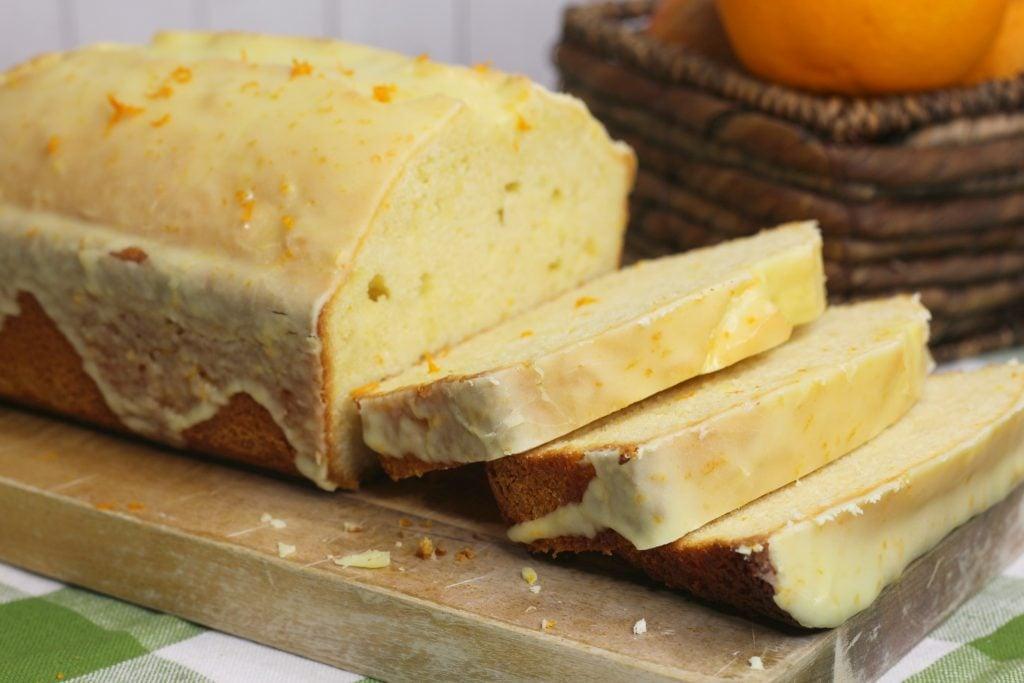 Orange Glazed Mimosa bread recipe with real champagne