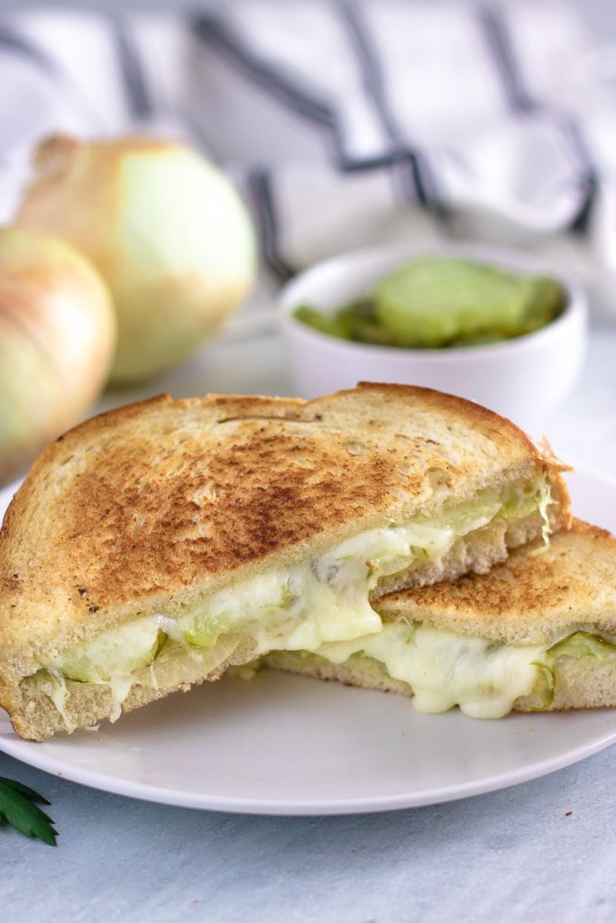 Dill Pickle & Vidalia Onion Grilled Cheese Sandwich