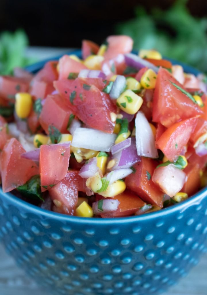 pico and corn salsa
