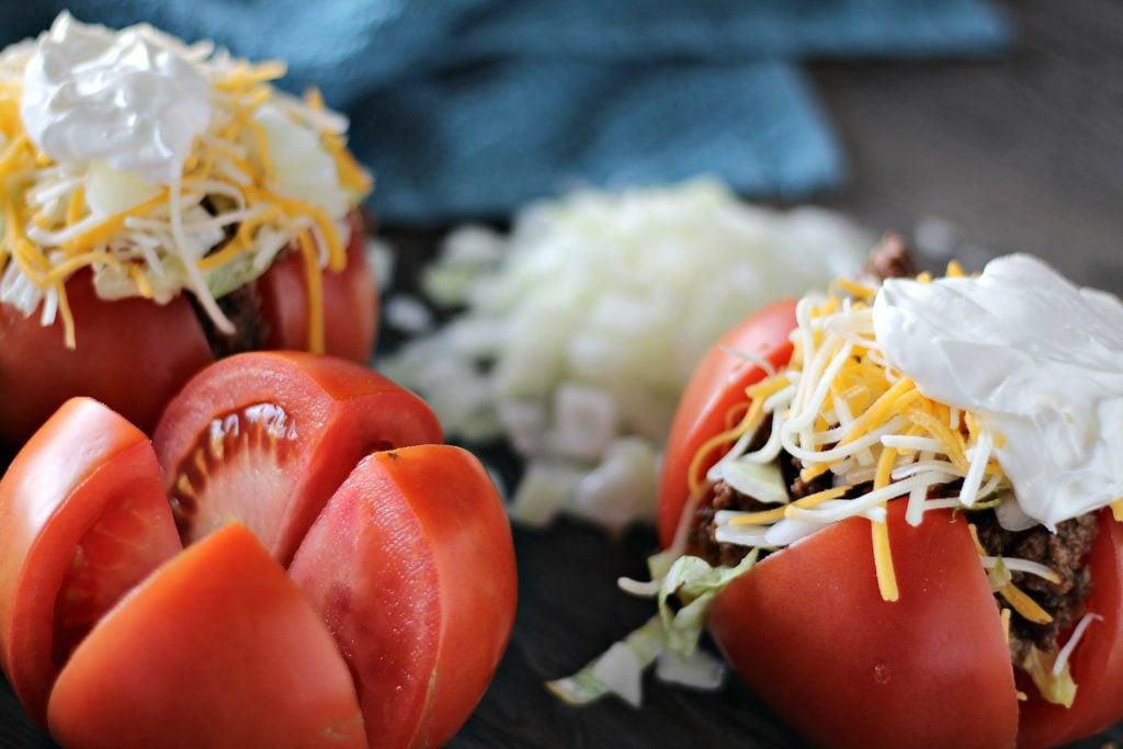 taco stuffed tomatoes