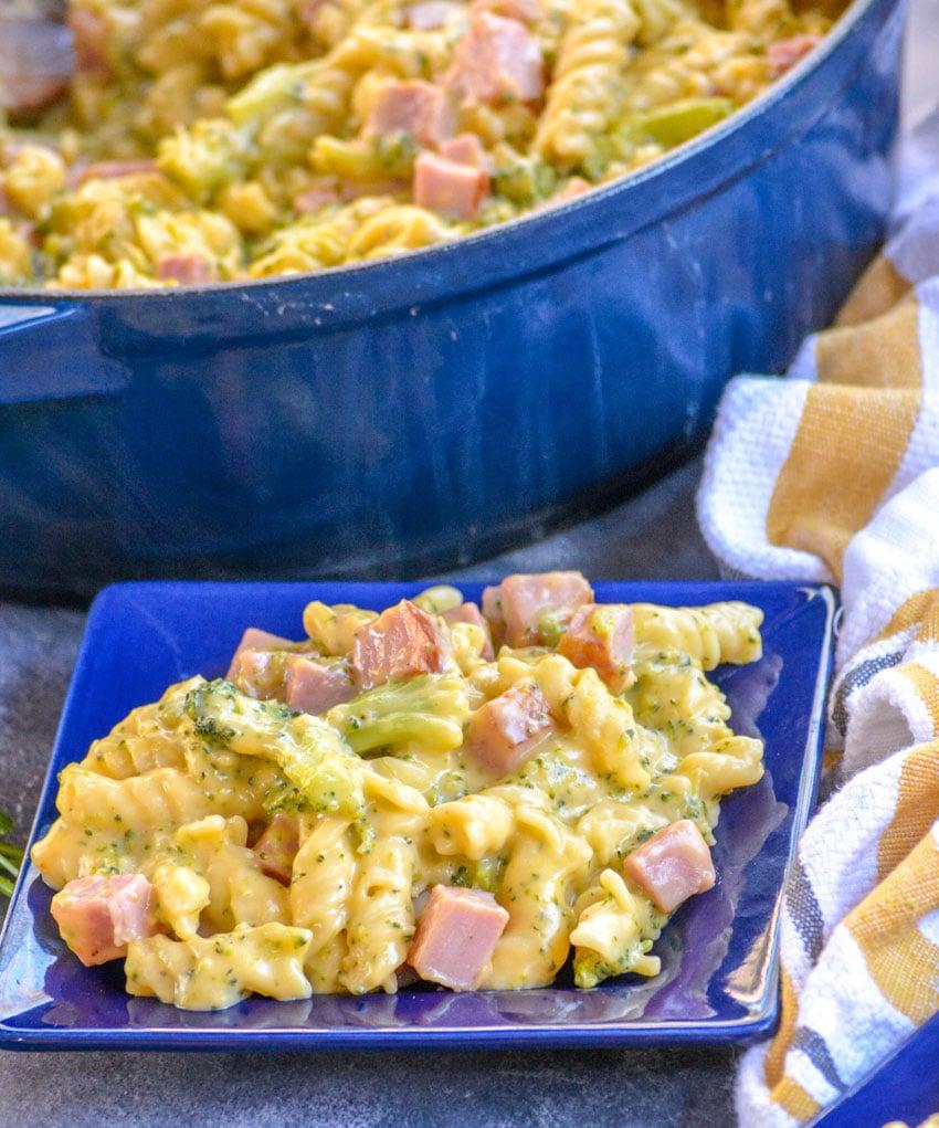 cheesy ham and broccoli pasta