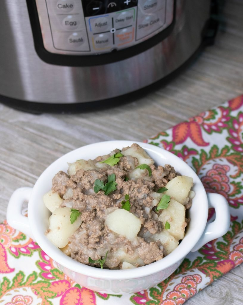 Instant Pot Ground Beef & Potato Hash