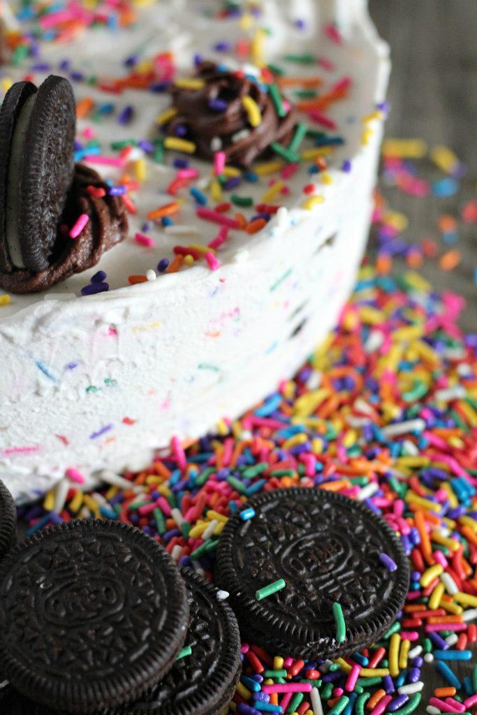 Oreo Funfetti Icebox Cake
