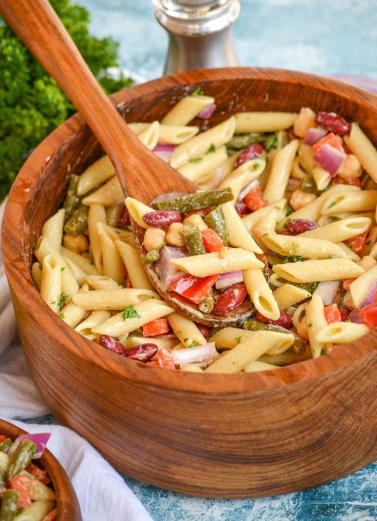 Three Bean Pasta Salad