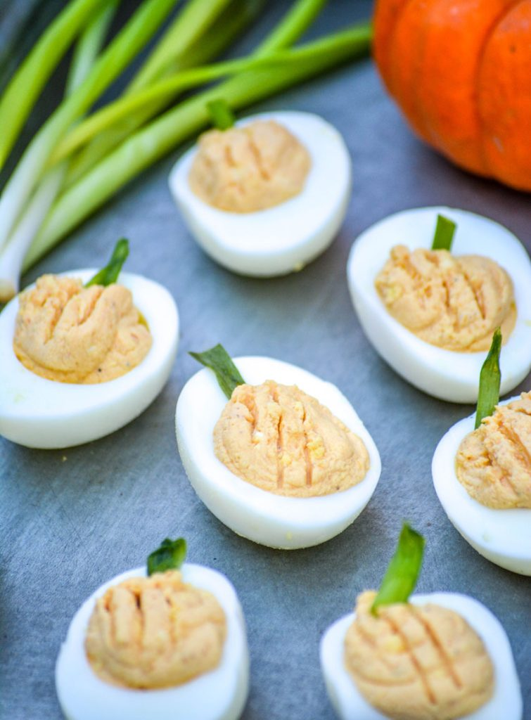 Pumpkin Deviled Eggs #PumpkinWeek