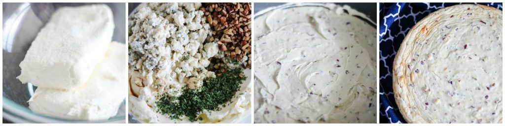 savory cheesecake filling in process images